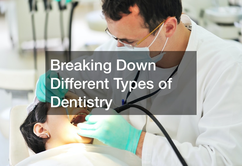 types of dentistry courses